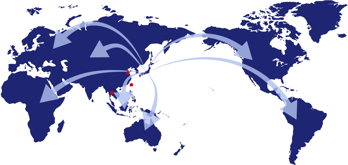海外への輸出も対応可能