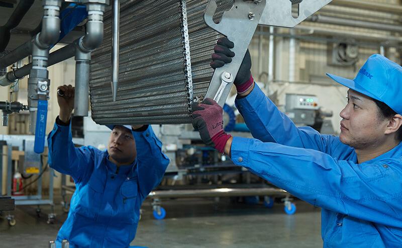 納品後の機械のトラブルに対して、早急に対応